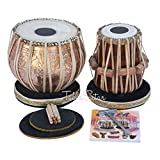 Concert Quality Tabla by Maharaja Musicals, 4 Kilogram Brass Bayan, Lord Shiva Design, Sheesham Dayan, Tuneable To C Sharp, Padded Bag, Book, Hammer, Cushions, Cover, Tabla Drums (PDI-CAA)