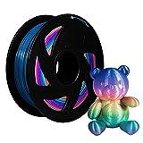 XVICO PLA Filaments Rainbow 3D Printer pla spools,1.75mm Filament 2.2 LBS 1KG, Rainbow Color...