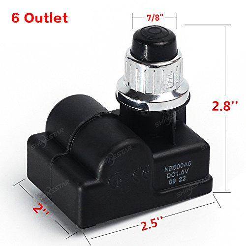 SHINESTAR 6 Outlet Gas Grill Ignitor Replacement,Electronic Spark Generator,BBQ Igniter for Brinkmann,Charbroil,Jenn-Air,Kenmore,Nexgrill,Charmglow,Grillmaster,Master Forge,Members Mark,Uniflame
