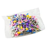 100pcs Dental Multi-Color Nylon latch flat Polishing Polisher Prophy Brushes