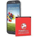 PowerBear Samsung Galaxy S4 Battery | 2,600 mAh Li-Ion Battery for the Galaxy S4 [I9500, I9505 LTE, I545 (Verizon), M919 (Tmobile), I337 (AT&T), L720 (Sprint)] | S4 Spare Battery [24 Month Warranty]