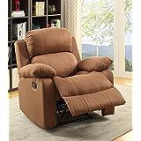 ComfortScape Microfiber Recliner Sofa Chair, Chocolate
