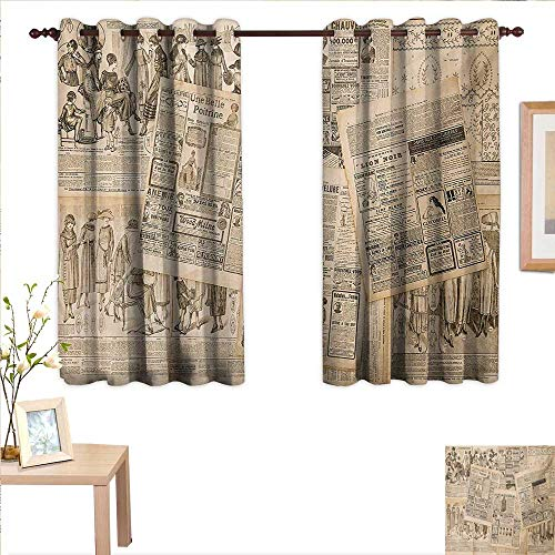 Superlucky Antique Decor Curtains by Newspaper Pages with Advertising and Fashion Magazine Woman Edwardian Publicity Image 63