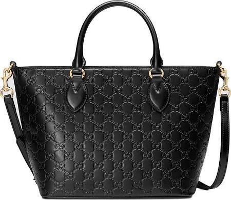 Gucci Guccisima Black Signature Calf Top handle Leather Bag Zip Purse Italy New - New Gucci Bag