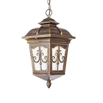 ZY Lámpara colgante tradicional para exteriores Luz Aluminio ...