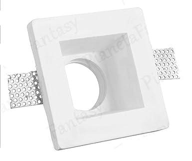 Puerta Foco cuadrado de tiza Ceramico Totalmente pf10-s Lote de 10 unidades + casquillo