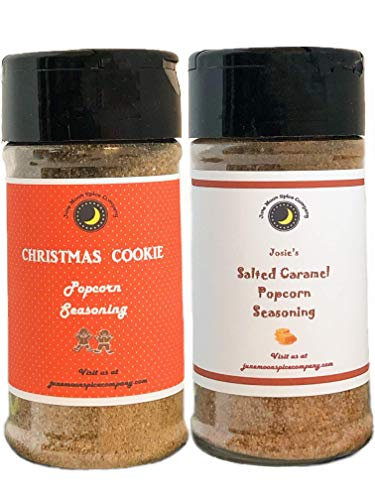 Premium | POPCORN SEASONING | Variety 2 Pack | Salted Caramel | Christmas Cookie | Crafted in Small Batches with Farm Fresh SPICES for Premium Flavor and Zest | 3.5 oz. ()