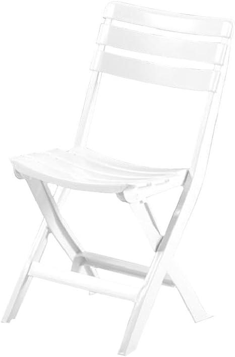Silla plegable de resina blanca: Amazon.es: Hogar