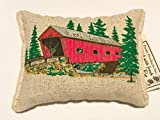 Paine's BALSAM FIR PILLOW 3.5''x5'' COVERED BRIDGE TREES pine sachet scented lodge style