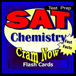 Amazon com: SAT Prep Test CHEMISTRY Flash Cards-CRAM NOW