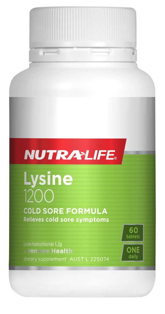 Nutra-Life L-Lysine 1200mg 60 Tablets
