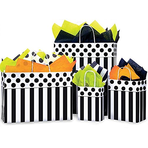 Domino Alley Paper Shopping Bags - Assortment of 4 sizes - 375 Pack by NW