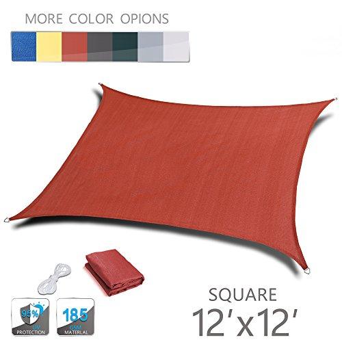 UPC 714569299477, LOVE STORY 12' x 12' Square Terra UV Block Sun Shade Sail Perfect for Outdoor Patio Garden