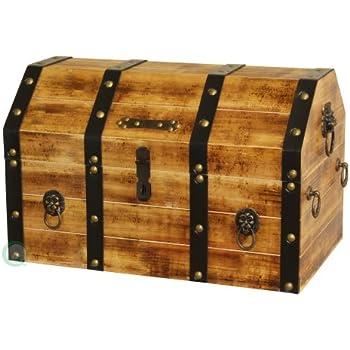 amazon com craftistics wooden secret stash treasure chest pirate s