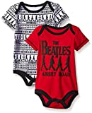 The Beatles Baby Boys' Value Pack Bodysuits, Red, 3-6 Months