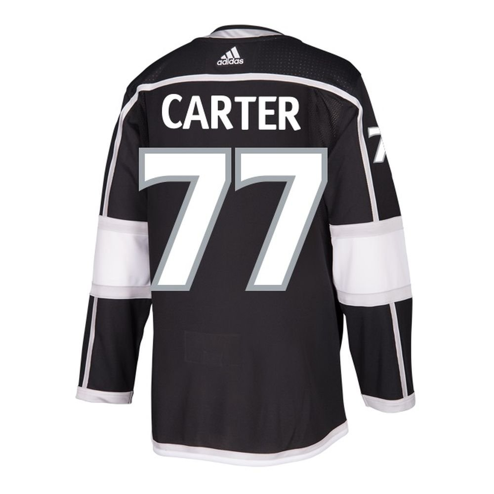 1ed549f8077 Amazon.com : adidas Mens LA Kings Jeff Carter Authentic Pro Home Jersey  Black : Sports & Outdoors