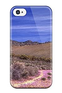 Faddish Phone Wild Flowers Road Digital Case For Iphone 4/4s / Perfect Case Cover