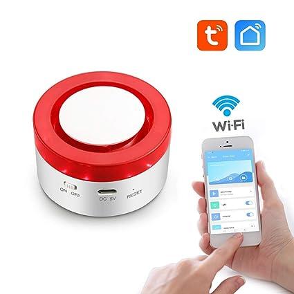 aixi-SHS Smart Wi-Fi 433Mhz Sirena estroboscópica Alarma de ...