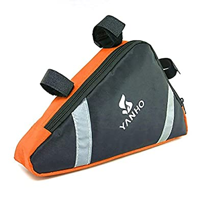 Cycling Bike Bycicle Frame Pack Pannier Front Tube Triangle Bag Pouch - Orange