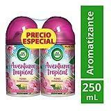 Air Wick Aventura Tropical Aromatizante Freshmatic Repuesto, Flores Hawaianas, 250 ml, 2 cuentas, Pack of 1