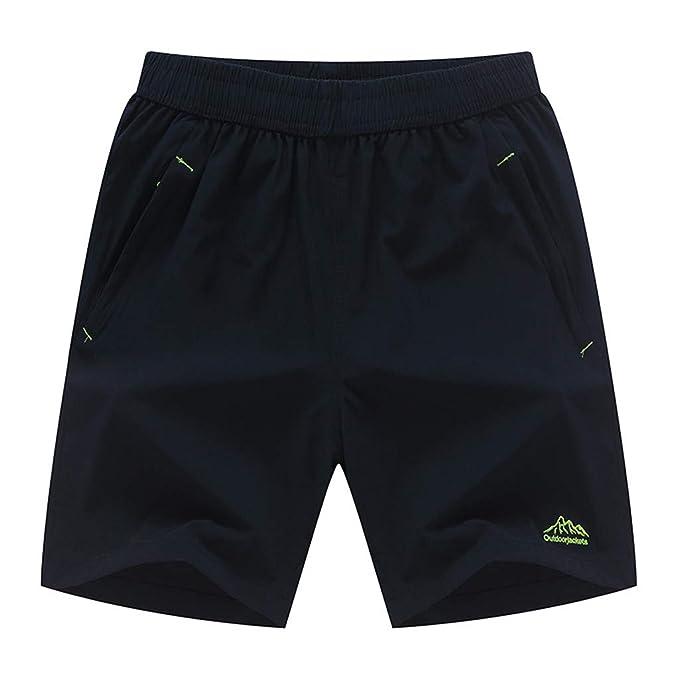 VPASS Pantalones Hombre Verano Chándal de Hombres Color sólido Gym ...