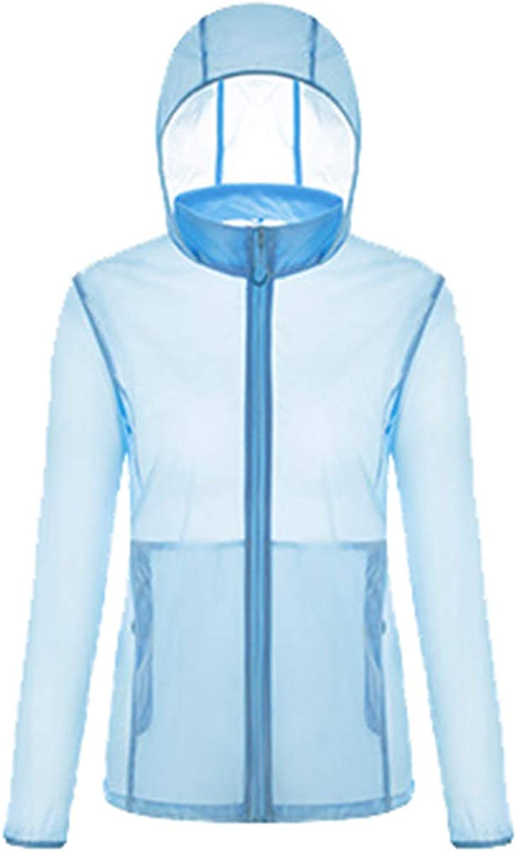 NOMSOCR Women Men Sun Protection Rashguard Outdoor Breathable Quick-Dry Hoodie Top