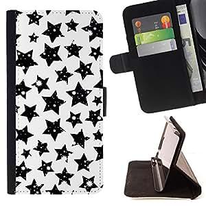 BullDog Case - FOR/LG Nexus 5 D820 D821 / - / stars black white sky night universe cosmos /- Monedero de cuero de la PU Llevar cubierta de la caja con el ID Credit Card Slots Flip funda de cuer