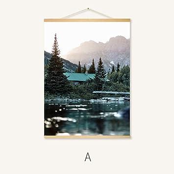 Pintura minimalista moderna sala nórdica tríptico retrato pintura decorativa simple: Amazon.es: Bricolaje y herramientas