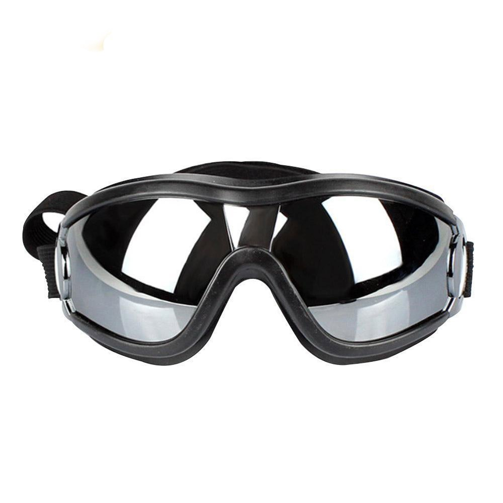 XPangle Dog Goggles - Large Dog Puppy Sunglasses UV Protection Waterproof Windproof with Adjustable Strap Pet Goggles for Medium to large Dog, Black