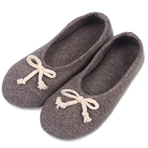 (Caramella Bubble Ballerina Slippers for Women | Womens Summer Ballerina Style Slippers| Comfort Lightweight Memory Foam House Shoes(7-8.5, Black))