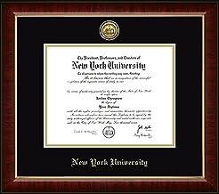 NYU Gold Engraved Medallion Diploma Fram...