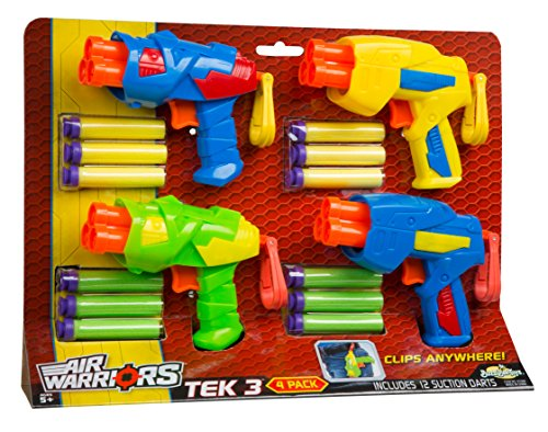 Buzz Bee Toys Air Warriors Tek 3 Blaster Four Pack (Toy Foam Blasters & Guns)