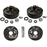 3,500 lbs. Trailer Axle Self Adjusting Electric Brake Kit 6-5.5'' Bolt Circle