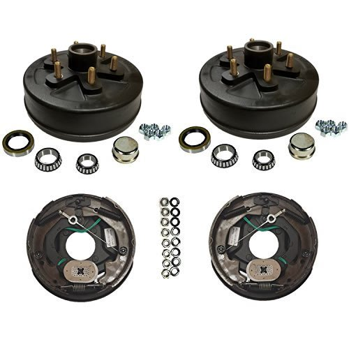 3,500 lbs. Trailer Axle Self Adjusting Electric Brake Kit 6-5.5'' Bolt Circle by Southwest Wheel