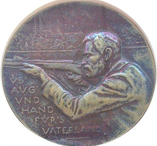 1900 CH Rare Swiss 1900 Bronze Shooting Festival Medal Ba coin Good