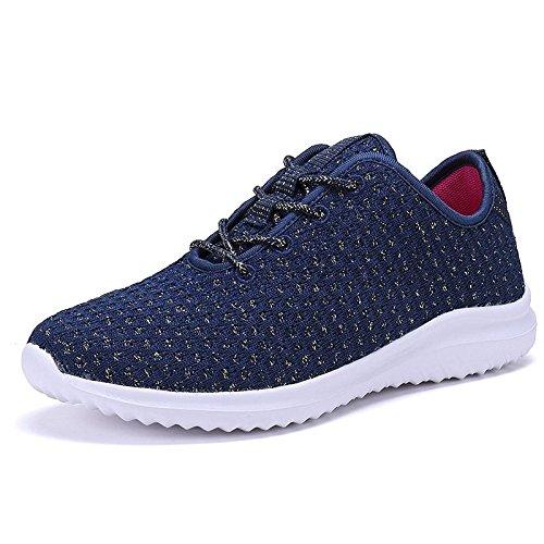 Foxy Grey Womens Emma Shoes | Running | Fitness | Navy 10