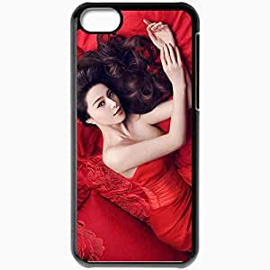 Personalized iPhone 5C Cell phone Case/Cover Skin Asian Brunette Dress Black
