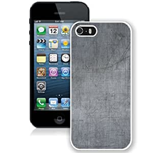 NEW Unique Custom Designed iPhone 5S Phone Case With Scratched Metal Surface Texture_White Phone Case