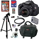 Canon EOS Rebel T3i 18 MP CMOS Digital SLR Camera with EF-S 18-55mm f/3.5-5.6 IS II Zoom Lens + 10pc Bundle 16GB Deluxe Accessory Kit