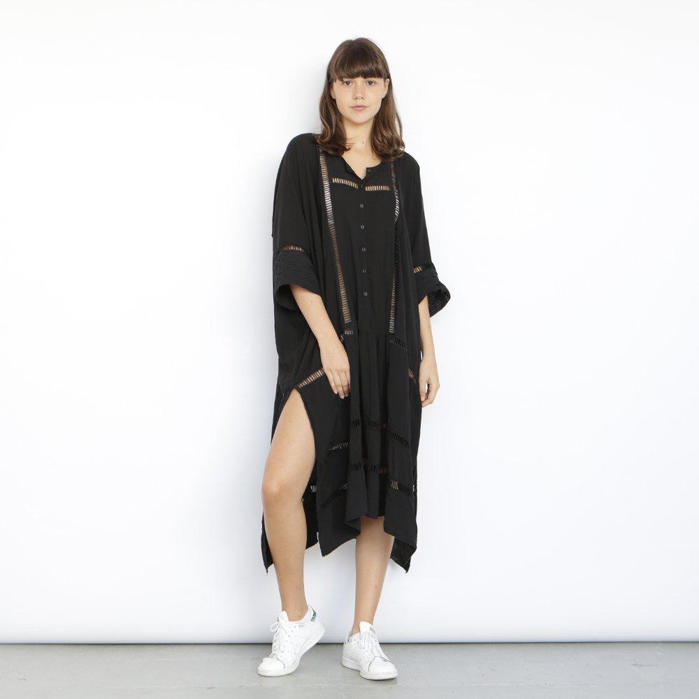Breeze Kaftan Dress, Black.