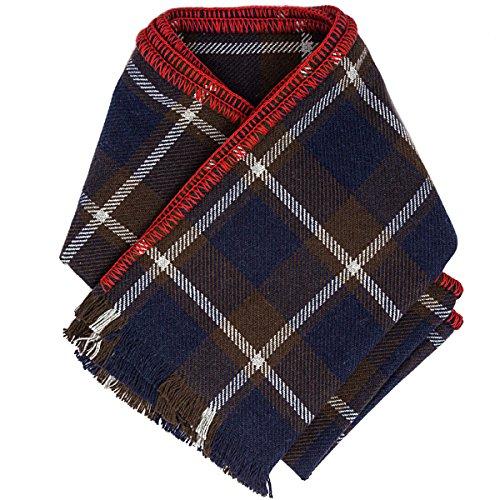 Coach 83145 Men's Wool Cashmere Tattersall Plaid Winter ()