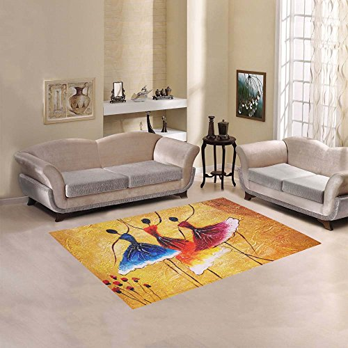 Happy More Custom Oil Painting Spanish Dance Area Rug Indoor/Outdoor Decorative Floor Rug by InterestPrint