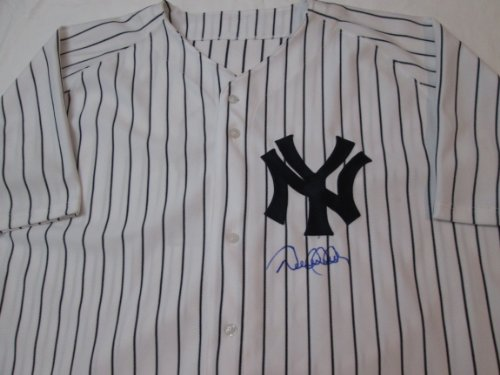 DEREK JETER signed New York Yankees autographed authentic pinstripe baseball jersey MLB & Steiner Sports authenticated