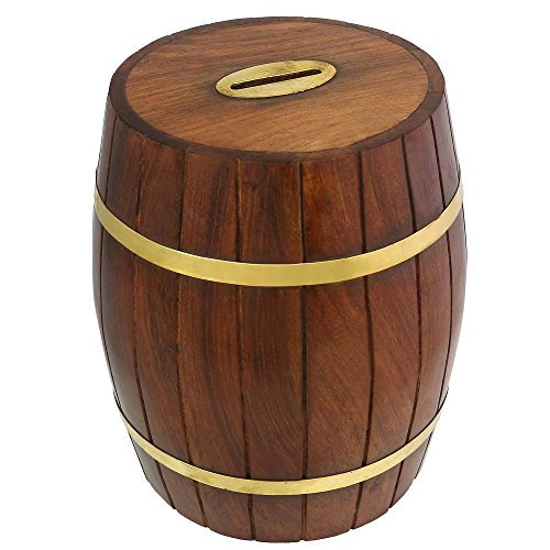 (Safe Money Box Savings Banks Wood Carving Handmade By Artisan by ShalinIndia)