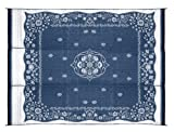 Outdoor Patio Rugs Camco 42851 Reversible Outdoor Mat (9' x 12', Blue Oriental)