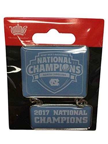 North Carolina Tar Heels Lapel Pins - aminco North Carolina Tar Heels 2017 NCAA Men's Basketball Champions Dangler Lapel Pin