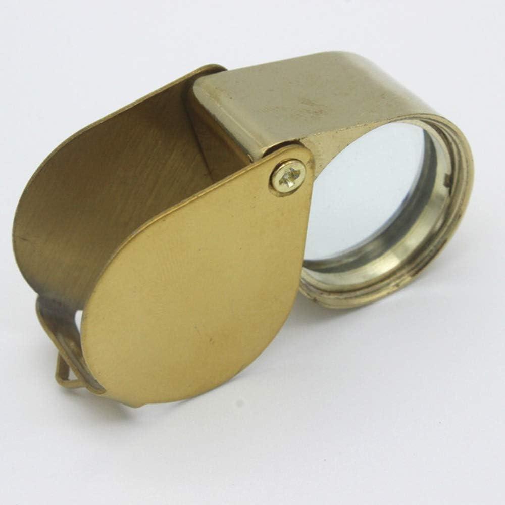 Portable Mini Loupe de Poche Loupe Lentille Bijoutier Golden Eye Loupe Boucle pour lidentification Timbres Bijoux Pi/èces Antiquit/és