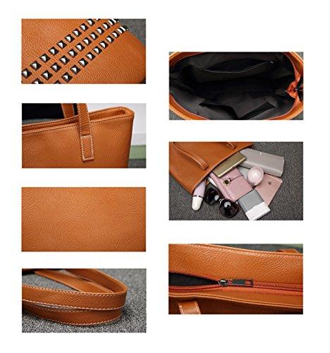 Auspicious Beginning Épaule À Rivet Main Casual Sac Portable Top Poignée Noir ww1xqp