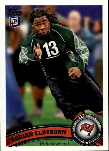 2011 Topps Football Rookie Card #362 Adrian Clayborn Near - 2011 Football Cards