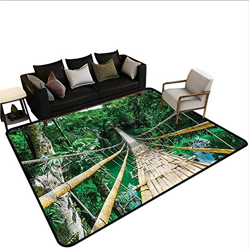 "Tropical,Rug Bathroom Mat 80""x 96"" River Bamboo Forest American Floor mats"